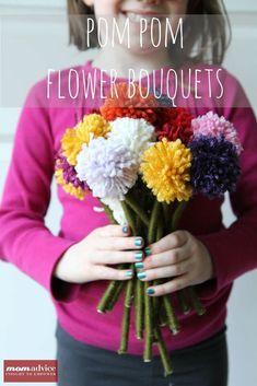 How to Make a Pom-Pom Flower Bouquet