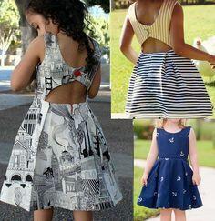 Open Back Dress - Free Patterns Frocks For Girls, Kids Frocks, Toddler Dress, Baby Dress, Toddler Fashion, Kids Fashion, Little Girl Dresses, Girls Dresses, Girl Dress Patterns