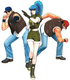 Ikari Warriors Team from The King of Fighters '98: Ultimate Match