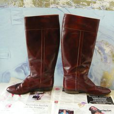 Fine Leather Riding Boots ITALY size 8 AA  Eur 38 .5 UK by GoodEye