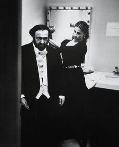 Luciano Pavarotti | by Helmut Newton