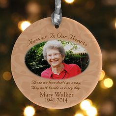 Forever In Our Hearts Photo Memorial Ornament