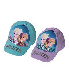 Look at this Frozen Elsa & Anna Baseball Cap Set - Kids on #zulily today!