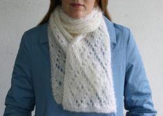 #Free Pattern; Knit; Diamond Lace Scarf  ~~