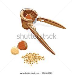 Vector hazelnut cracker. Illustration