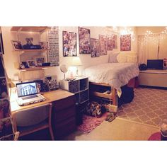 My dorm room this year!! Spent a lot of time working on it over the year and it's finally where I want it!