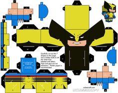 Hola a todos ahora les traigo mas de estos cubeecraft los de hoy son heroes... que os guste. Batman. 2 este batman tiene dos partes en la primera esta todo el cuerpo y en la segunda la capa (aunue tambien aparece la capa de batman zombie). Superman....