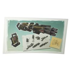 Bearded Minigun Soldier Drawing Concept Art