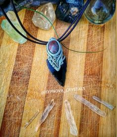 Black Obsidian Arrowhead with Fancy Jasper in Polymer Clay. crafted with intuition,intention and love Bottle Charms, Crystal Jewelry, Intuition, Jasper, Dream Catcher, Washer Necklace, Polymer Clay, Charmed, Fancy