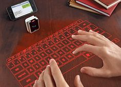 Gift dad this virtual keyboard—so cool!