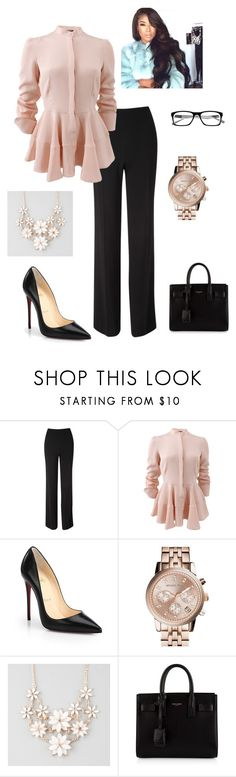 """""""Professional attire"""" by bella-vs-brianna ❤ liked on Polyvore featuring Jane Norman, Alexander McQueen, Christian Louboutin, MICHAEL Michael Kors, Full Tilt and Yves Saint Laurent"""