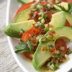 Avocado and Tomato Salad with Confetti Vinaigrette