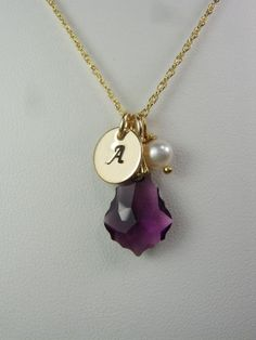 initial necklace - it was meant to be, well almost, if it was silver it'd be perfection!