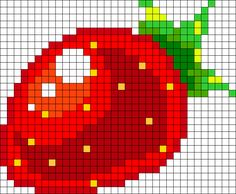 Strawberry Perler Bead Pattern / Bead Sprite