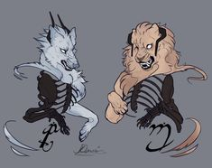 by Remarin on DeviantArt Creature Drawings, Animal Drawings, Art Drawings, Drawing Art, Character Inspiration, Character Art, Character Design, Tattoo Character, Mythical Creatures Art