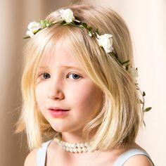 Corona de flores para el pelo Blanca from BelandSoph.com