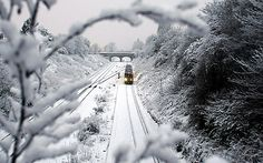 Train in the snow nr. Liverpool _ picture from the Telegragh newspaper