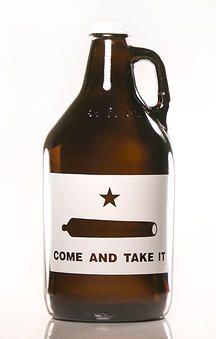 Come and Take It - Texas Beer Growler - @Michelle Simmons Of Growlers, LLC