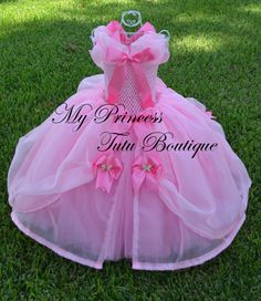 PLEASE READ BEFORE PURCHASING!!!!  Listing is for a size 12 month to 2T  NEW to our boutique, is this gorgeous Cinderella Tutu Dress. It is a combination of the pink dress the little mice worked on for Cinderella to go the royal ball and the dress from the new Cinderella movie with the butterflies. This was custom made for one of my customers who wanted the best of both movies. We love it and I am sure you will love it too. This dress is made with many yards of tulle. The bodice is made with…