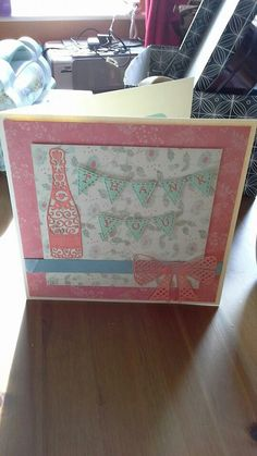 Tattered lace thank you card