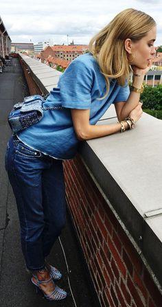 Blue Tweed Chanel Bag