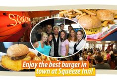 The Squeeze Inn in Sacramento- from Diners Drive-Ins and Dives. They have won awards for their burgers.