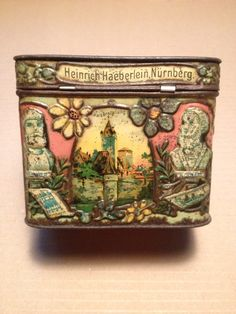 Antique German Christmas Tin.