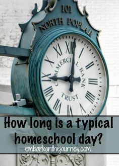 How long is a typical homeschool day? I hear this often. However, it's usually in comparison to a typical public school day. The length of your school day will depend on a few things... #homeschooling #organization #schedule