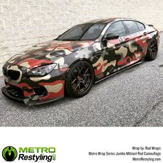 Metro Jumbo Militant Red Camo vehicle wrap by Rad Wraps. Metro Jumbo Militant Red Camo vinyl wrap is exclusively available at MetroRestyling. Vinyl Wrap Car, Military Camouflage, Car Wrap, Car Pictures, Custom Cars, Cool Cars, Cool Stuff, Classic, Badass