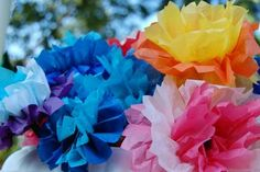 Learn how to make Tissue Paper Flowers — If the flowers aren't blooming quite fast enough for you, why not make some of your own?  -  Pinned by @PediaStaff – Please Visit http://ht.ly/63sNt for all our pediatric therapy pins