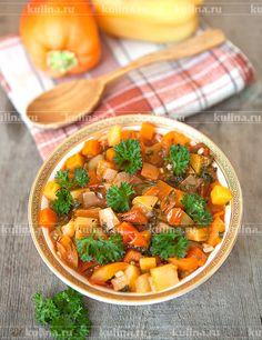Овощи тушеные - рецепт с фото