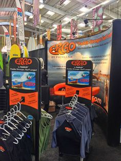 PaddleAir Ergo booth at The Boardroom International Surfboard Show, May 17-18, 2014, Del Mar Fairgrounds, California.