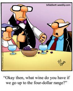 Bill Abbott's wine cartoons