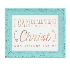 All Things Through Christ Framed Art Print