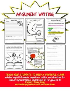 They may know how to argue, but can they write an argument essay? Teaching students to write argumentative texts for English language arts, history/current issues, science, etc. classes.