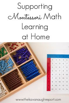 Supporting Montessori Math Learning at Home - Home Schooling Ideas Montessori Practical Life, Montessori Homeschool, Montessori Elementary, Montessori Activities, Teaching Math, Preschool Activities, Teaching Reading, Homeschooling, Preschool Centers