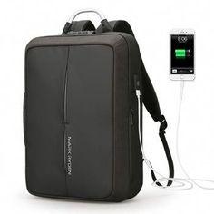 ab6ae6a0cbbe Anti-thief USB Recharging Backpack NO Key TSA Lock Design Business Fashion  Message Backpack Travel