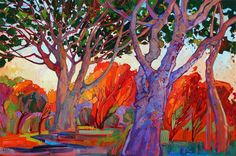Paintings by Erin Hanson, Erin Hanson transforms these landscapes into an abstract mosaic of color and texture, her impasto application of paint lending a sculptural effect to her art. Her oil paintings stand out in a crowd, bringing a fresh new look to Western landscapes. Avid collectors span the globe, and Hanson shows her work in top-rated art festivals, galleries and museums across the United States. erinhanson.com https://www.facebook.com/pages/ErinHansoncom/312701855427713?ref=br_rs