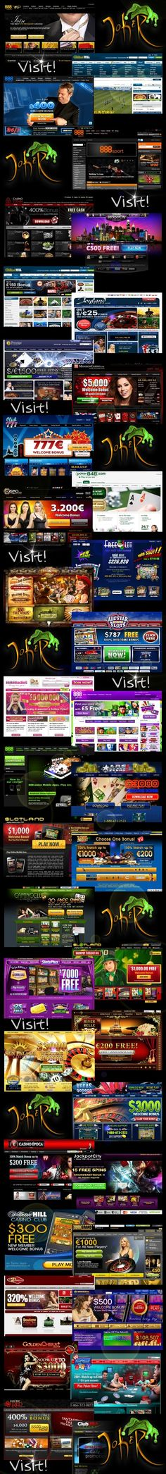 JoKeR - Top 50 Online Casinos & Sports Betting in WORLD, with good Promotions and Offers.   Visit! >> http://joker777.weebly.com/