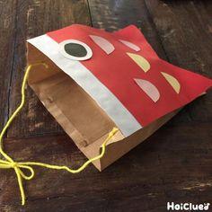 空を泳いでいるはずのこいのぼりが、頭に…!?被って楽しめる、一味違ったこいのぼりの製作遊び。身近な材料「紙袋」で作れるところも嬉しい♪