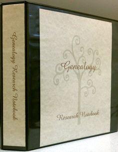 Genealogy Research Notebook/ Organizer by TracingDescendants, $29.99