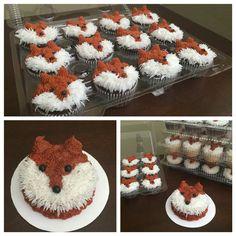 Fox cupcakes and smash cake. Made November 2015.