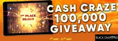 Cash in on a $100,000 Cash Craze this May at Black Diamond #Casino- https://www.freeslotmoney.com/100000-cash-craze-giveaway-black-diamond-casino/