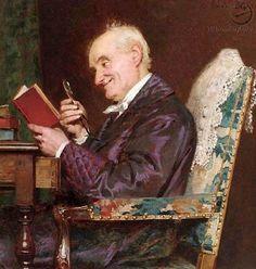 An amusing story. Louis Emile Adan (1839-1937) French painter.