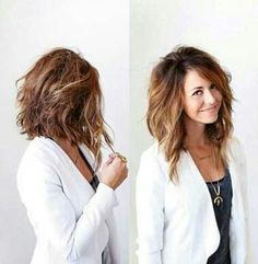Choppy ombre - longer style