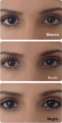 Delineado de ojos con tres colores