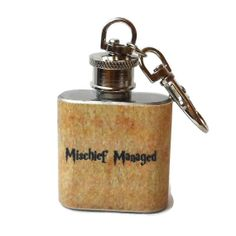 Stainless Steel Hip Flask - Harry Potter - Mischief Managed - by Garters By Lori
