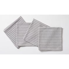 We love the simple stripe on this set of organic cotton napkins. | $49 for a set of four