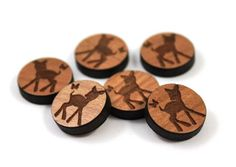 Laser Cut Supplies-6 Pieces.Fawn & Butterfly Charms - Mixed Laser Cut Wood-Earring Supplies- Little Laser Lab Sustainable Wood Products by LittleLaserLab on Etsy https://www.etsy.com/listing/150896057/laser-cut-supplies-6-piecesfawn