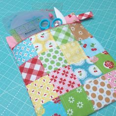 Lori Holt of Bee In My Bonnet created this handy zippered pouch from her latest line Sew Cherry 2 for Riley Blake Designs.